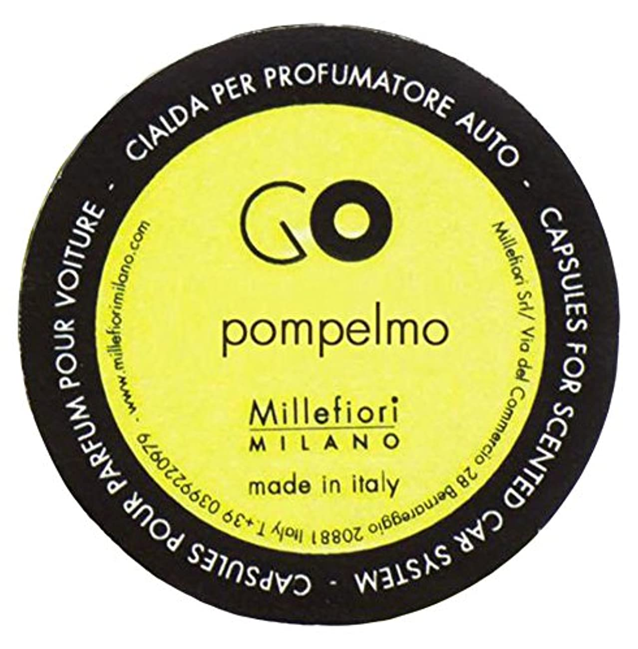 取り戻すサイレントゴールMillefiori カーエアフレッシュナー GO レフィル グレープフルーツ 1pcs RGPO