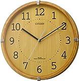 CITIZEN ( シチズン ) 電波 掛け時計 シンプルモードアーク ミニ 小型 木 茶 4MYA27-007