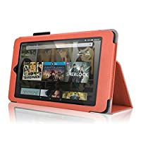Bear Motion for All New Fire HD 8 (2016 Release) - Folio Case with Stand for Kindle Fire HD 8 (2016 Model) Smart Cover Case (Orange) [並行輸入品]