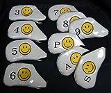 アイアンカバー スマイル番手別 【3~9,P,A,S】10個セット (ホワイト)