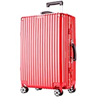 Mei Xu Luggage Sets Trolley Case-24//26 Inch Aluminum Frame Aircraft Wheel Trolley Case Student Luggage Solid Color Password Suitcase Business Travel Check Box 4 Color Optional Travel Essential