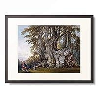 ポール・サンドビー Paul Sandby 「A Boy making a Dog dance by the Bole of an Ancient Gnarled Beech Tree.」 額装アート作品