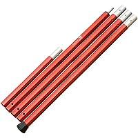 ザキャンパー アルミポール 長さ 120~270cm (60cm×4節+30cm節) 直径28mm 赤 RED