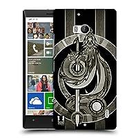 Head Case Designs シルバー メディイーバル・ドラゴン・エンブレム ハードバックケース Nokia Lumia Icon / 929 / 930