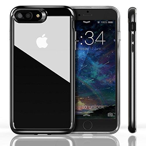 iPhone 8 Plusケース カメラ保護 iVAPO iPhone 8 Plus /iPhone 7 Plus カバー PC+TPU二層構造 耐衝撃 シンプル 軽量 アップルアイフォン 8 プラス 5.5 インチ 専門ケース カメラ 保護 (iPhone 8 Plus/7 Plus, ブラック)