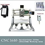 cnc 1610年自作初心者のためのpcb cnc1610ミリングウッドルータのための2500mwレーザー彫刻機による肺cnc