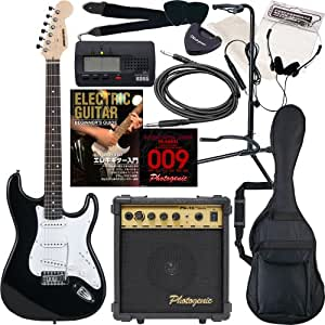 SELDER セルダー エレキギター ストラトキャスタータイプ サクラ楽器オリジナル ST-16/BK 初心者入門13点セット