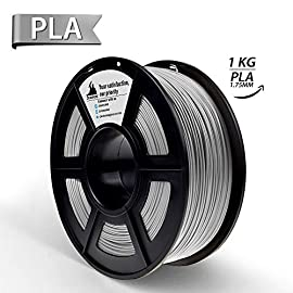 3D Hero Silver Filament 3D Printer Filament 1.75mm 1KG Spool,Dimensional Accuracy +/- 0.02 mm,3D Printing Filament PLA       ✮✮✮ Filament Features ✮✮✮          Material: PLA(Polylactic Acid)          Color:Silver          Net ...