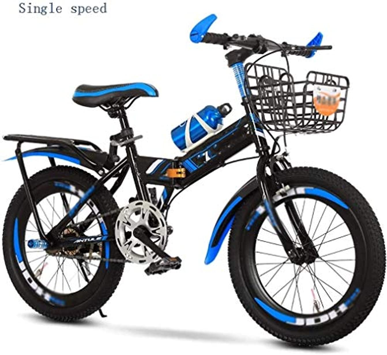 警察署ささいなオペラ折りたたみマウンテンバイク21台のスピード自転車のフルサスペンションMTB自転車26in 7-8-10-12-15歳、中学校の子供、小学校生徒、マウンテンバイク、少年は、大人のための折りたたみ自転車自転車 (Size : 20inch)