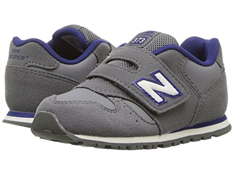 (ニューバランス) New Balance キッズランニングシューズ??スニーカー?靴 KV373v1 (Infant/Toddler) Grey/Navy 6.5 Toddler (14cm) M