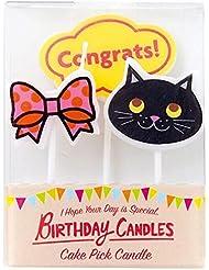 カメヤマキャンドル( kameyama candle ) ケーキピックキャンドル 「キュート」