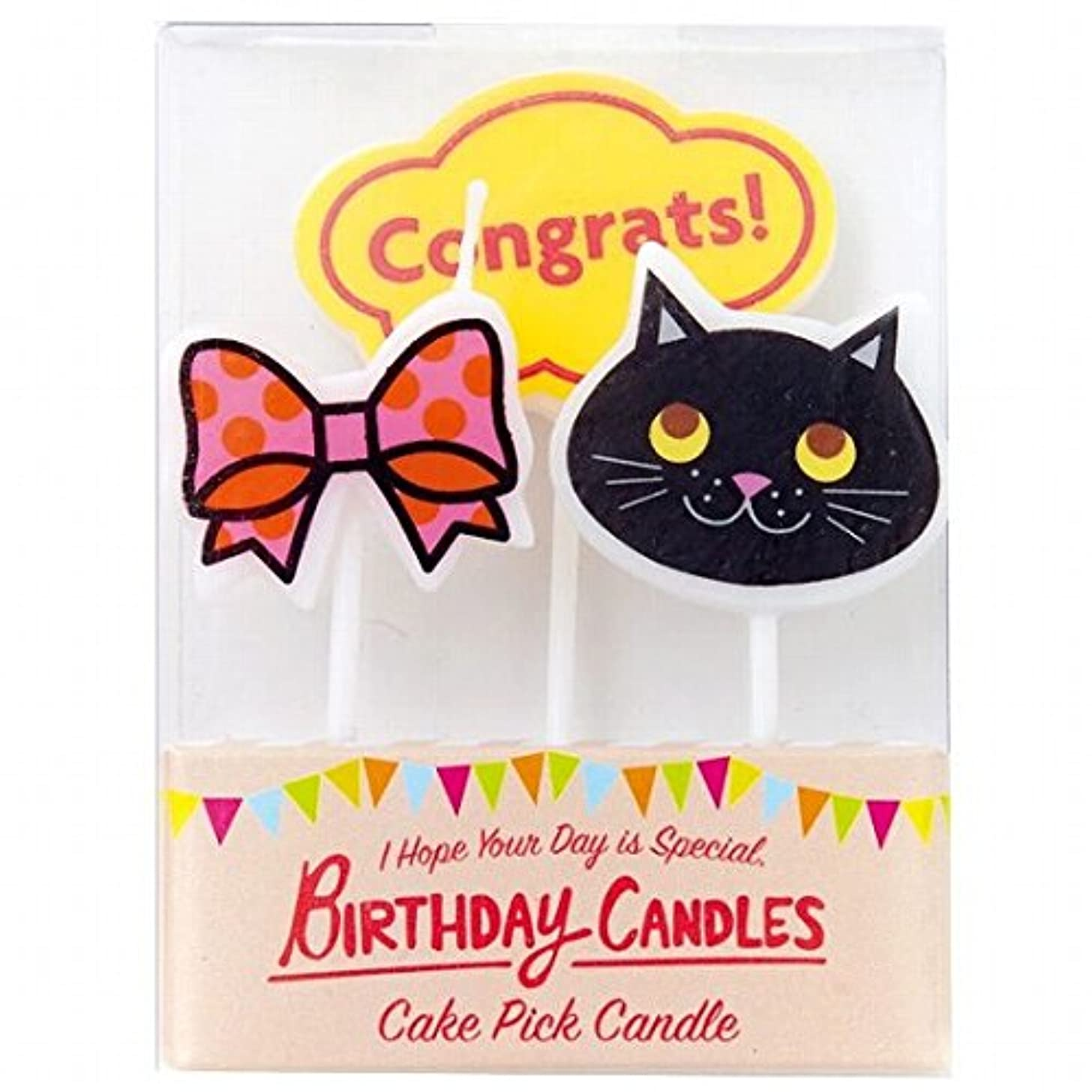 咳パンダサリーkameyama candle(カメヤマキャンドル) ケーキピックキャンドル 「キュート」(A3240040)