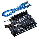 Elegoo UNO R3 ボード ATmega328P ATMEGA16U2 +USBケーブル Arduino用