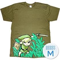 ゼルダの伝説 リンク 草Tee/Zelda Grass Center T-Shirt Sheer ゲーム キャラTシャツ M【並行輸入】