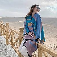 TIMWILL Women Men Oversize Cashmere-like Pashmina Wrap Shawl Warm Winter Plaid Travel Blanket Scarf