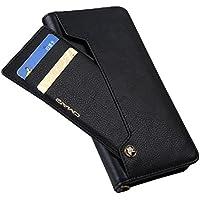 iPhoneXs/iPhoneX ケース 手帳型 スライド式カードポケット 手作りの高級PUレザー ストラップホール 付き アイフォンX/Xs 耐衝撃カバー 高級PUレザー マグネットとスタンド機能付き グレー