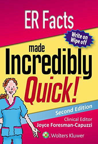 Download ER Facts Made Incredibly Quick (Incredibly Easy! Series®) 1496363639