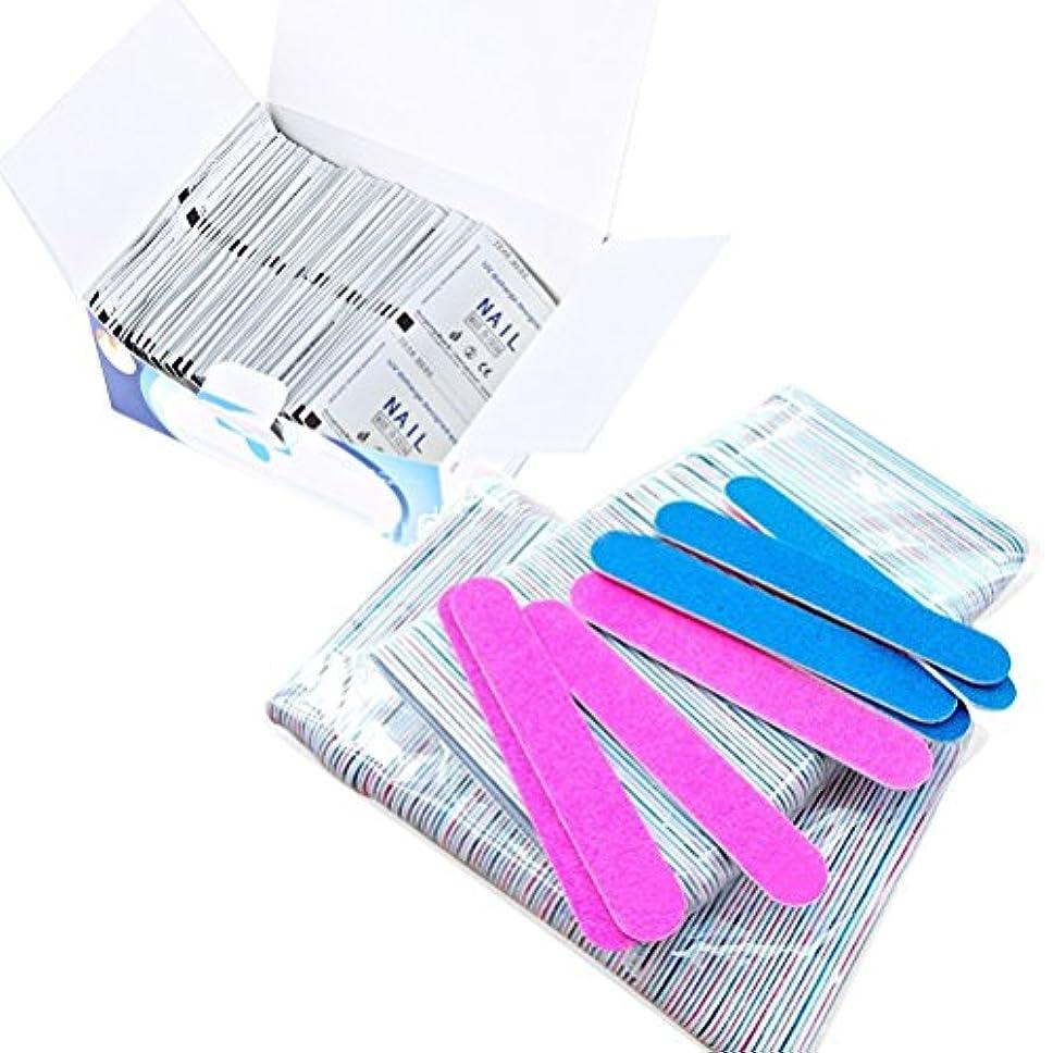 ポータルベッド柔和MakeupAcc ネイルリムーバーホイル、爪やすりセット 使い捨て リムーバー200pcs、爪やすり100pcs 使いやすい [並行輸入品]