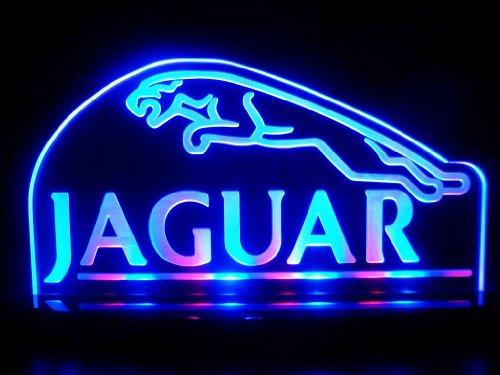 Jaguar車ロゴLEDランプ夜ライトManゲーム部屋部屋Signs