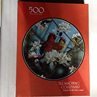 Blossoming Courtship–Cardinals and Cherry Blossom 500Piece Puzzle–byブルース・Lawes
