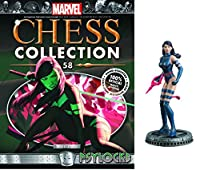 Marvel Psylocke White Pawn Chess Piece withコレクターMagazine # 58