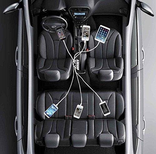 シガーソケットカーチャージャー, GVDV 急速車載充電器 65W/13A 電圧自動調整 6USBポート 黒
