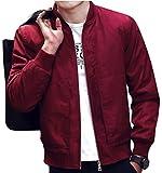 (オビエ)Ovie ブルゾン MA-1 ジャケット レッド L ジャンパー ジプシー ジャッキー スキニールック スキニー スポーティ トラッド ネービールック M65 MA1 ハイエンド パンク ビッグシルエット 薄手 アウター メンズ t40 赤 L