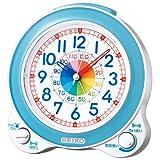 SEIKO CLOCK(セイコークロック) クォーツ 知育 めざまし 時計 KR887L ライトブルー アナログ