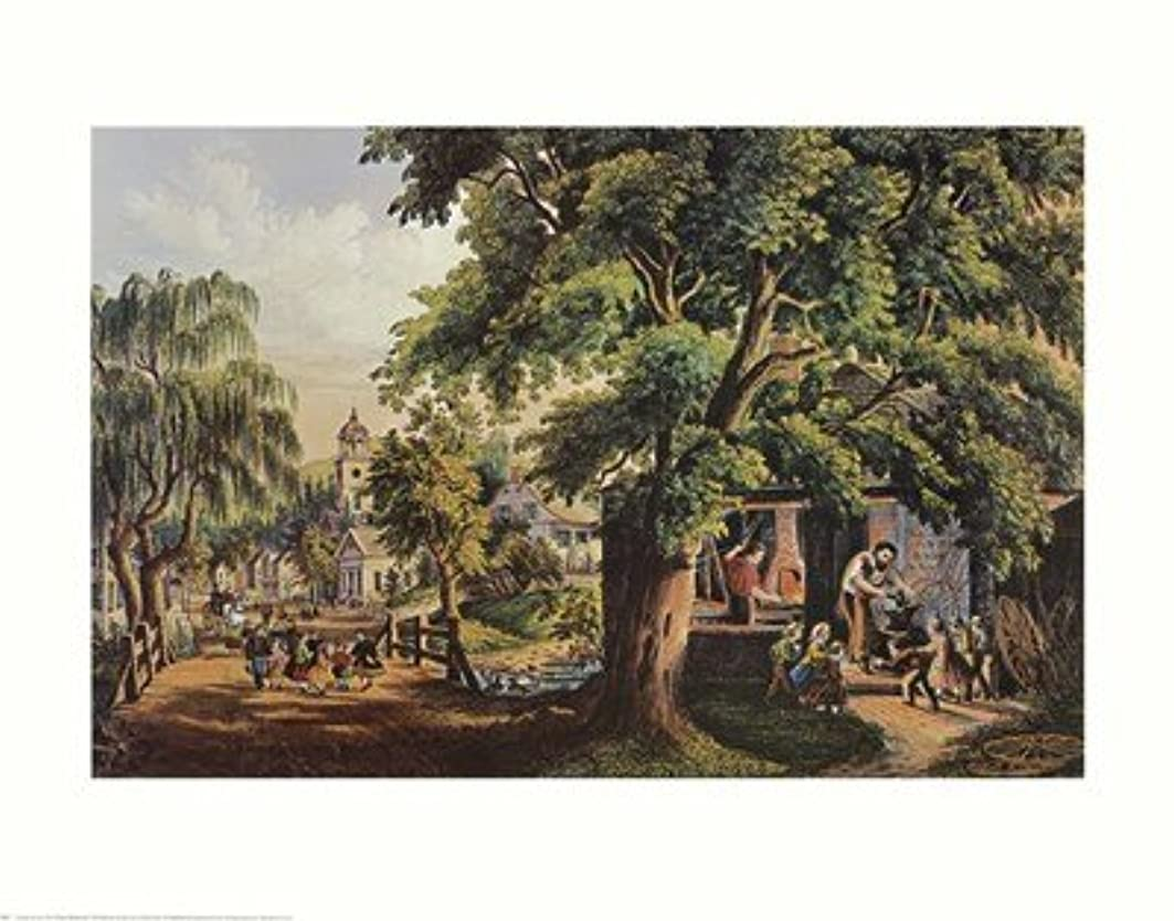 村Blacksmith by Currier and Ives – 28 x 22インチ – アートプリントポスター LE_398737