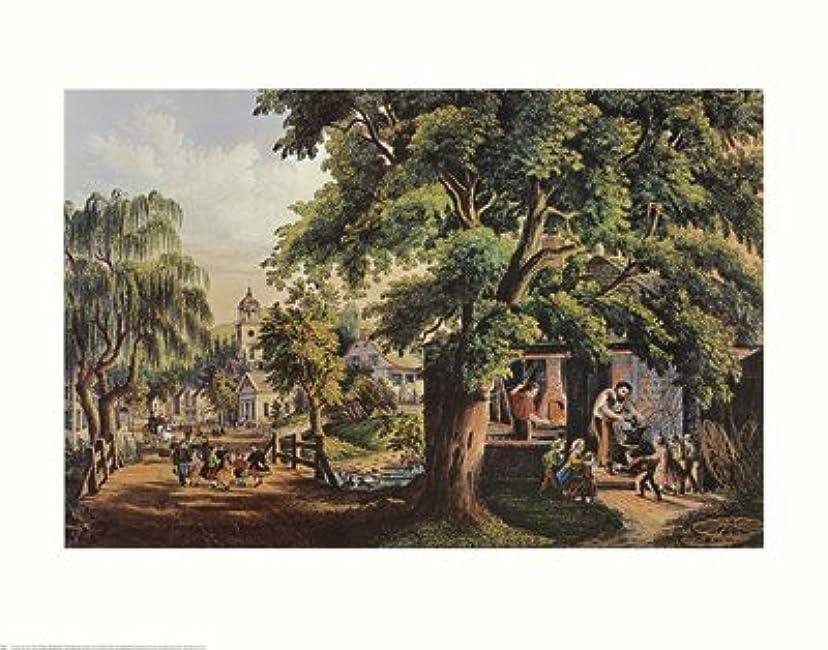 生北洞察力のある村Blacksmith by Currier and Ives – 28 x 22インチ – アートプリントポスター LE_398737