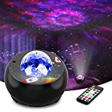 Riarmo Night Light Projector with Remote Control, Starry Galaxy Projector with Music Speaker for Bedroom/Party/Home Decor, Star & Nebula Projector with Voice Control and Timer for Kids & Adults