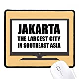 ジャカルタの最大の都市東南アジア マウスパッド・ノンスリップゴムパッドのゲーム事務所