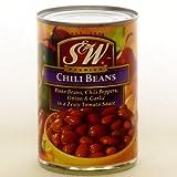 訳あり S&W チリビーンズ chili beans (Discount crushed cans.) 439g 缶詰 ※外装B級品 ラベル・缶等に傷や凹凸があります。賞味期限2020.01.27。