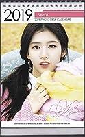 サナSANA/TWICEトゥワイス 2019年度 ホワイト卓上カレンダー 韓国
