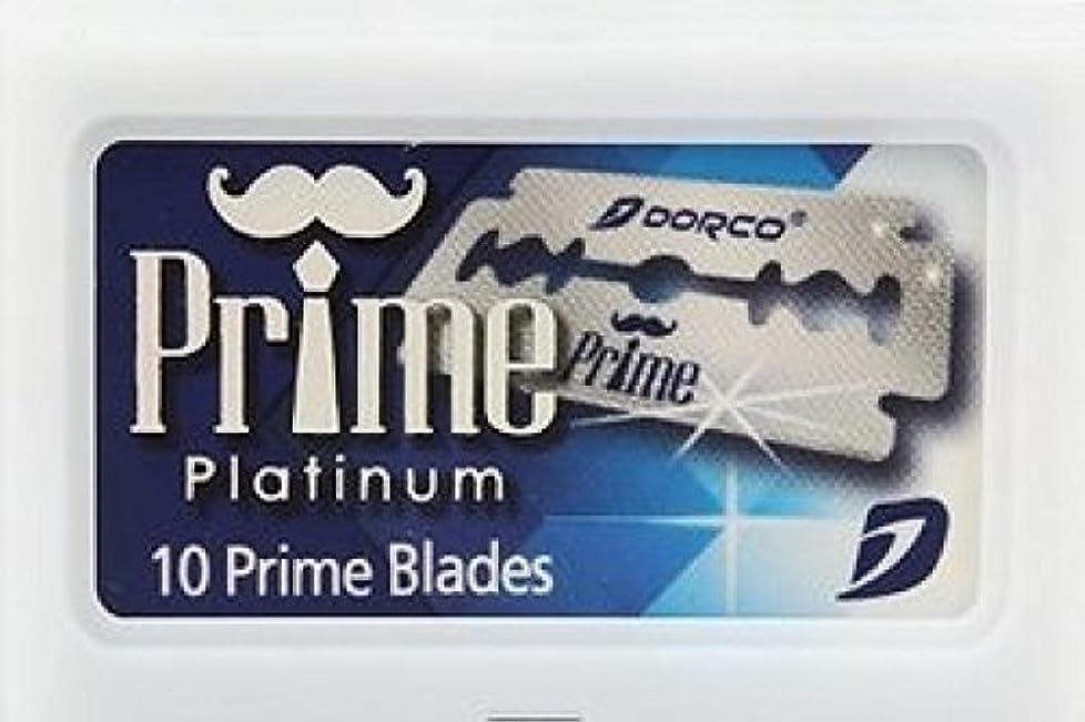 スリチンモイ優遇不正直Dorco Prime Platinum 両刃替刃 10枚入り(10枚入り1 個セット)【並行輸入品】
