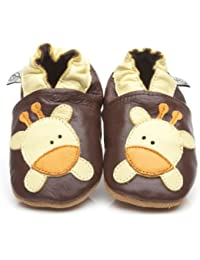 Soft Leather Baby Shoes Giraffe [ソフトレザーベビーシューズのキリン] 18-24 months (15 cm)