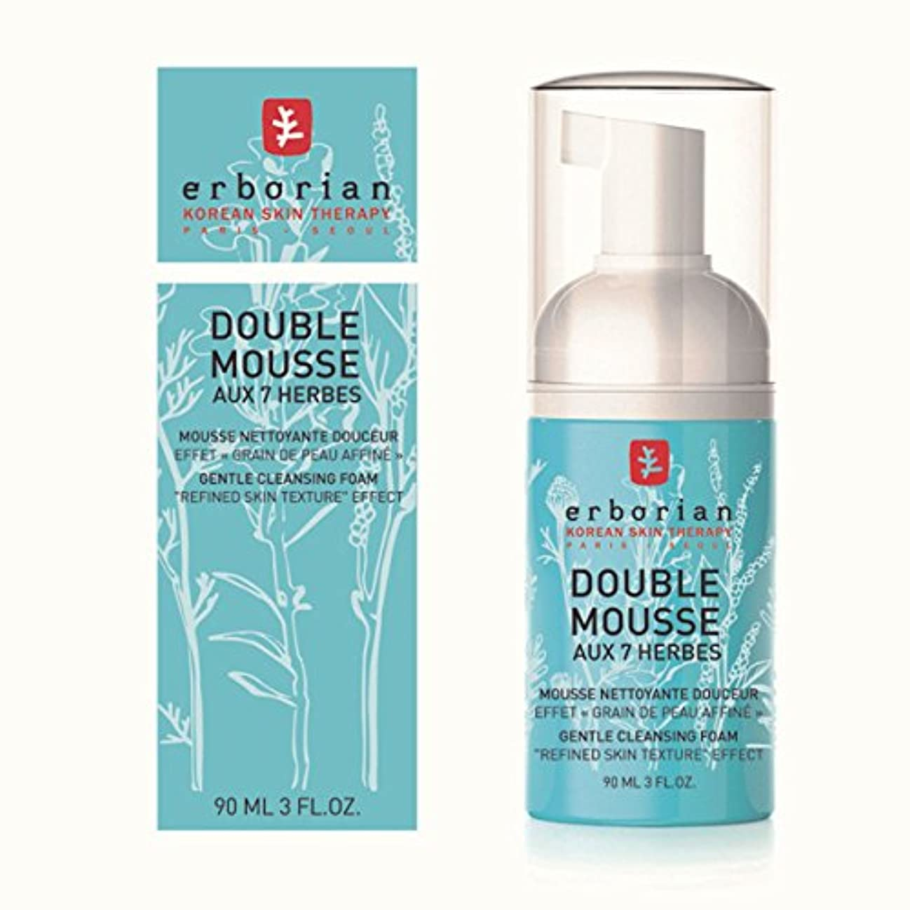 産地算術円形のErborian Double Mousse Gentle Cleansing Foam 90ml [並行輸入品]