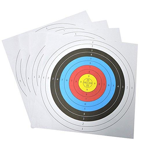 60・60cm 的の紙 アーチェリー用な道具 的用 四つに入り 練習