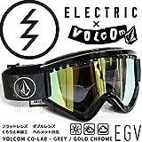 (エレクトリック)ELECTRIC EGV AF ボルコム コラボ メンズ レディース スノーボード スキー ゴーグル スノボ ボード用 スノーゴーグル アジアンフィット ミラー加工 くもり止め 平面 ダブルレンズ VOLCOM CO-LAB GREY/GOLD CHROME