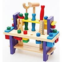 Children's nut combination disassembling tool table! Children's educational toys!Wooden children simulation toys!QZ-01 by meiminginc [並行輸入品]