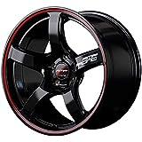 MID RMPレーシング R50 ホイール ブラック/リムレッドライン 17インチ×7J +48 5H114 国産車 入数:1台分(4本)