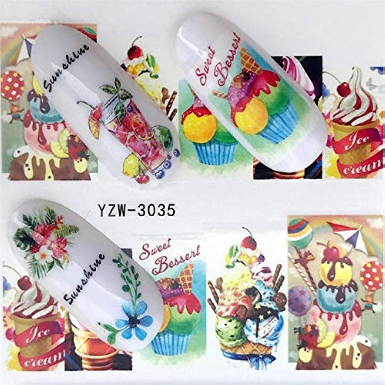 売上高誕生普遍的なCELINEZL CELINEZL 5 PCSウォータートランスファーステッカーデカールフラワーステッカーネイル用、色:YZW-3035