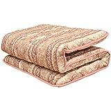 日本製 厚み 約9cm 固綿 敷き 布団 『超極太くん』 シングル ピンク 抗菌 防臭 防ダニ 清潔 わた 使用
