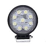 ANNT 27W LED ワークライト 広角タイプ 2160lm SUV トラック 船舶 作業用 ランプ 12V・24V兼用 作業灯 丸形 【1年間 保証期間 付】