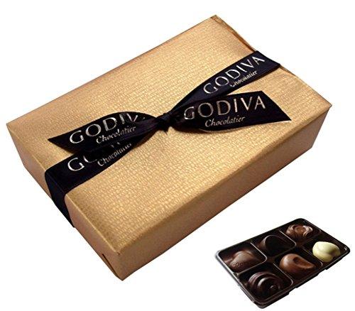 GODIVA(ゴディバ)  ゴールド バロティン アソート (6粒入り) [並行輸入品]【Godiva包装紙ラッピング (【無料ラッピング】手提げ付)