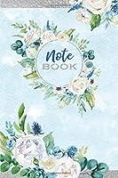 Watercolor Floral Notebook: Elegant Medium Ruled 6x9 Journal For Women & Girls