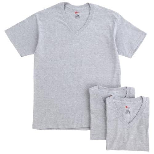 (ヘインズ)Hanes 3P VネックTシャツ HBJ1-003N-060 060 ヘザーグレー L