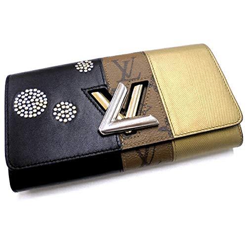 【中古】ルイヴィトン ポルトフォイユ ツイスト モノグラム リバース 二つ折り長財布 ブラック/ブラウン/ゴールド M64477