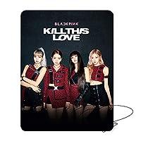 Youyouchard マウスパッド Kpop ブラックピンク Kill This Love 高精度ファブリックゴムベース ブラックピンクファンに最適なギフト 10.2×8.3インチ