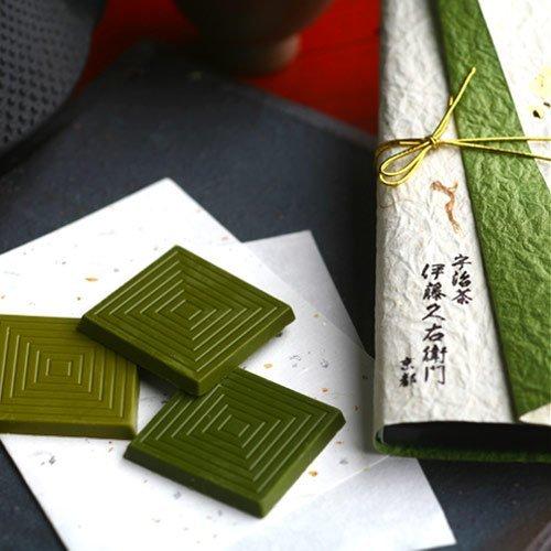 伊藤久右衛門 宇治抹茶 板チョコレート まっちゃ綴り 3枚入 限定 義理 和紙ラッピング